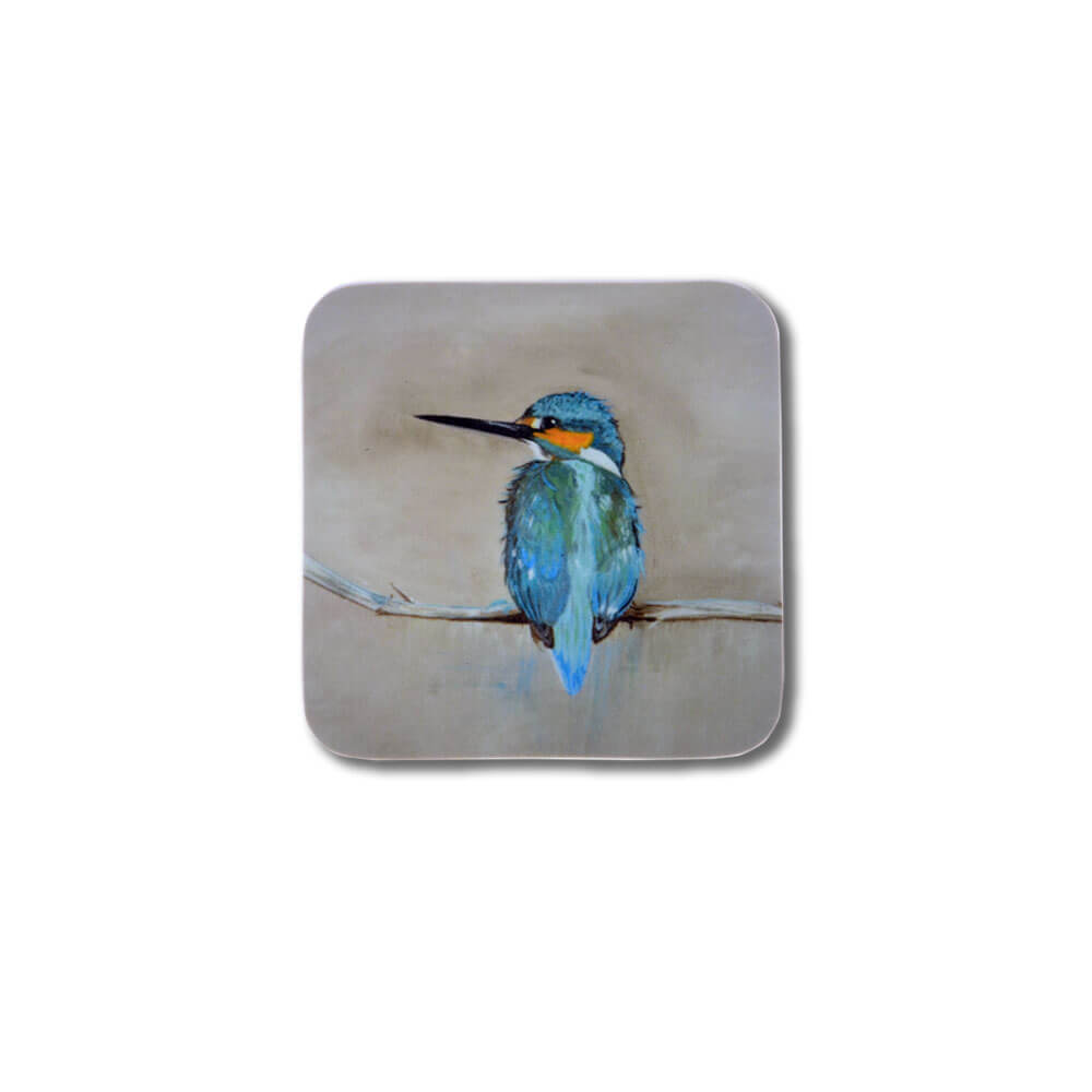 Kingfisher Design Melamine Coaster