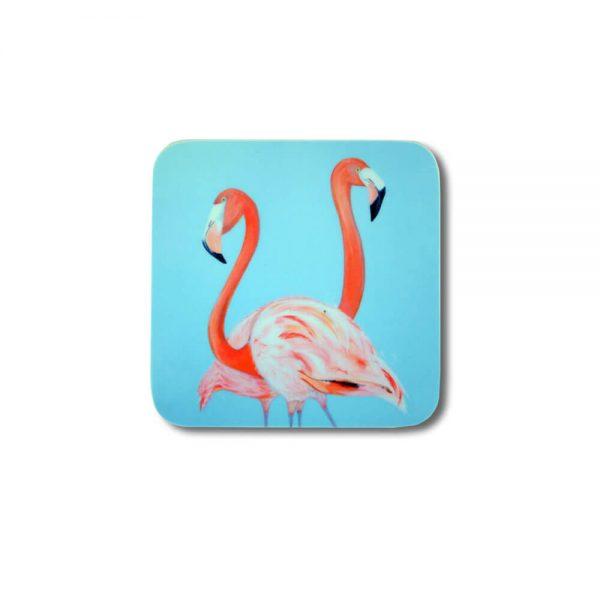 Flamingo Design Melamine Coaster