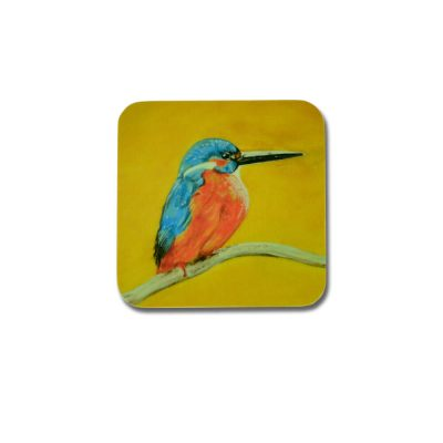 Kingfisher Design Melamine Coaster