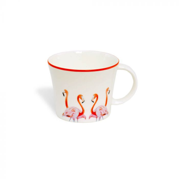 Flamingo Design Cup and Saucer