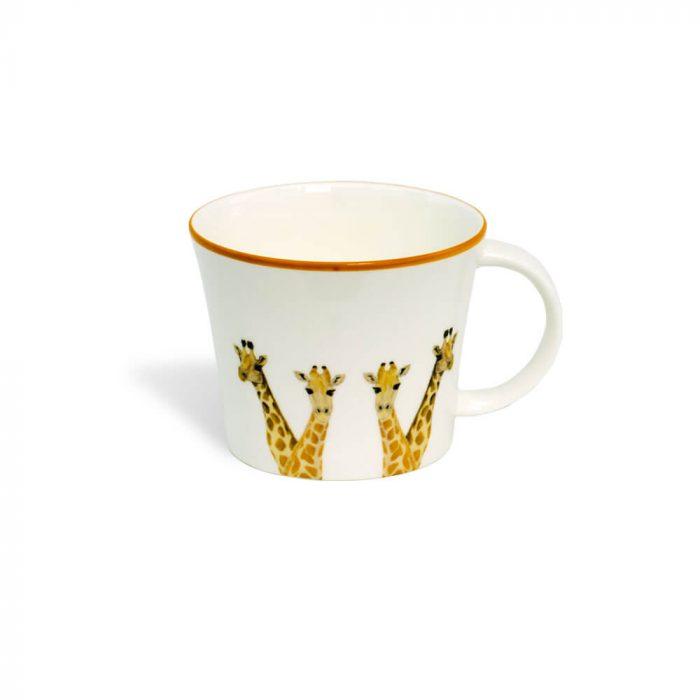 Giraffe Design Bone China Mug