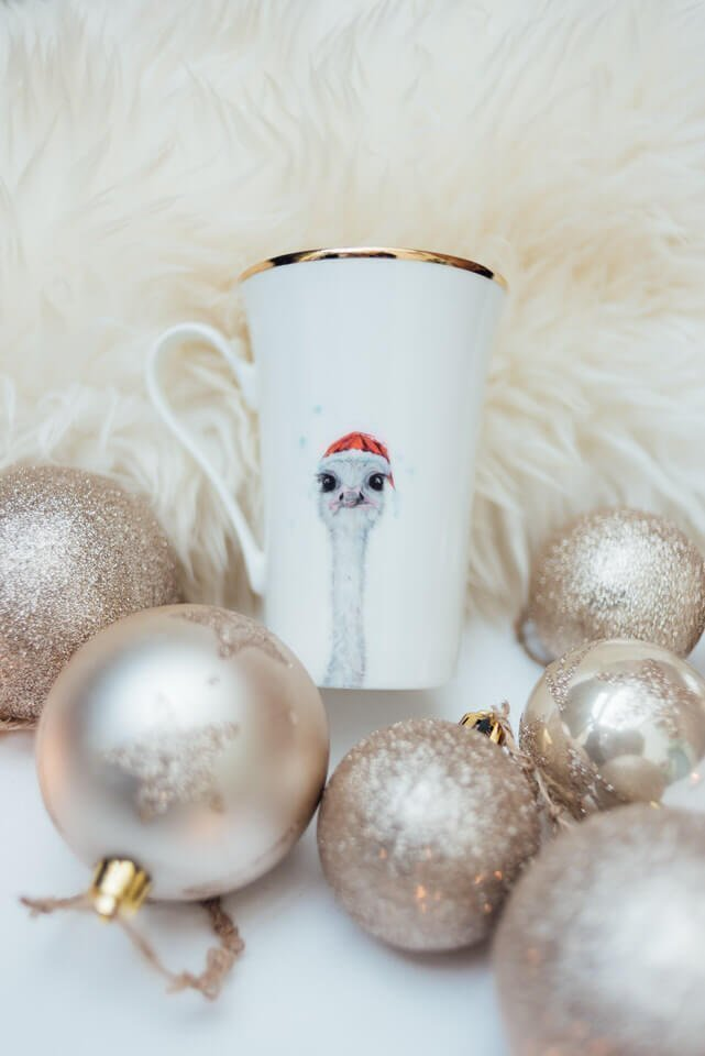 Francis Bone China Mug with Christmas Baubles