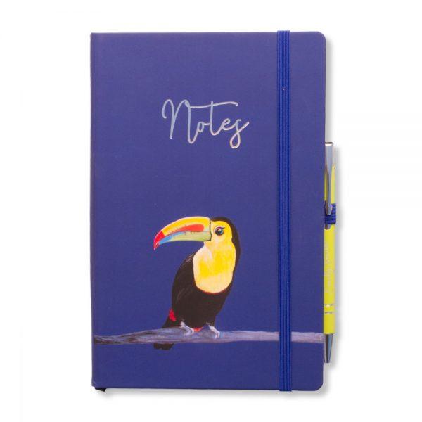 Taj the Toucan Notebook & Pen