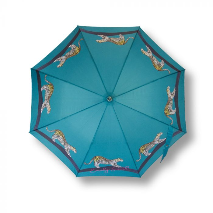 Leopard Print Umbrella Birds Eye view